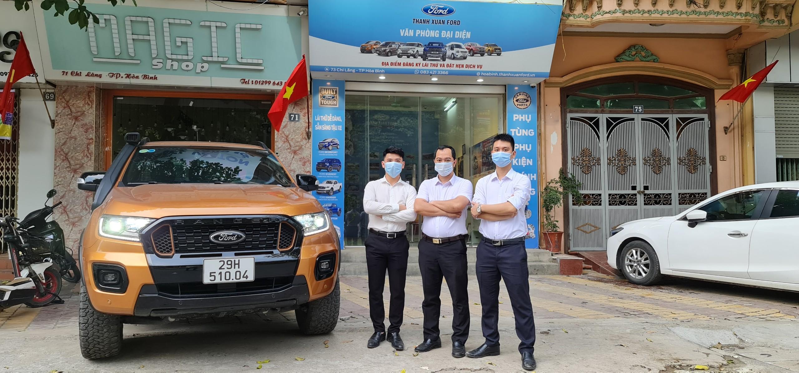 Văn phòng Ford Hòa Bình hỗ trợ các thủ tục vay trả góp khi mua xe bán tải cũ Ford Ranger tại Tây Bắc